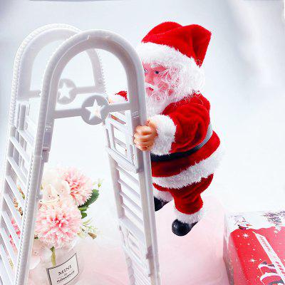 Santa Toy Double Ladder Electric Creative Mall Christmas Decoration