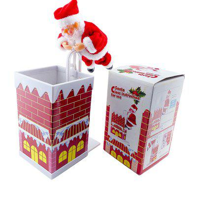 Electric Climbing Stairs Santa Claus Toy Chimney Toys Christmas Decoration
