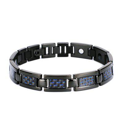 Titanium Steel Ornaments TY503 Stainless Bracelet Mens Pure Magnet Jewelry Carbon Fiber Cool
