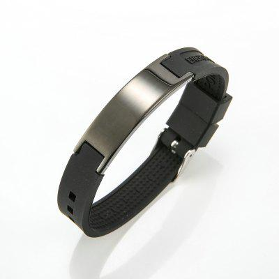 Jewelry Fashion Simple Silicone Mens Bracelet Light Surface Stainless Steel
