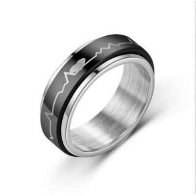 Steel Titanium Mens Ring Stainless Rotating Chain Jewelry Opening Bottle Cover