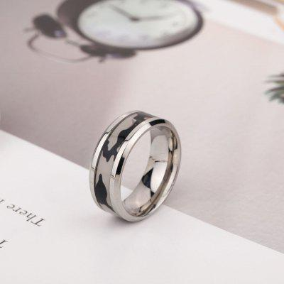 2020 Fashion Titanium Steel Ring Hot Camouflage Stainless Men Jewelry Ornaments