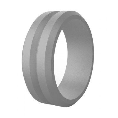 Simple Wind V-shaped Slot, Oblique, Mens Silicone Ring