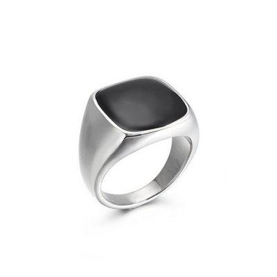 Fashion Trend Handwear Personality Atmosphere Classic Light Surface Stainless Steel Mens Ring Jewelry
