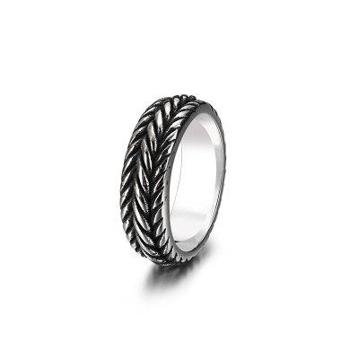 Stainless Steel Mens Jewelry Personality Fashion Punk Twist Chain Titanium Ring
