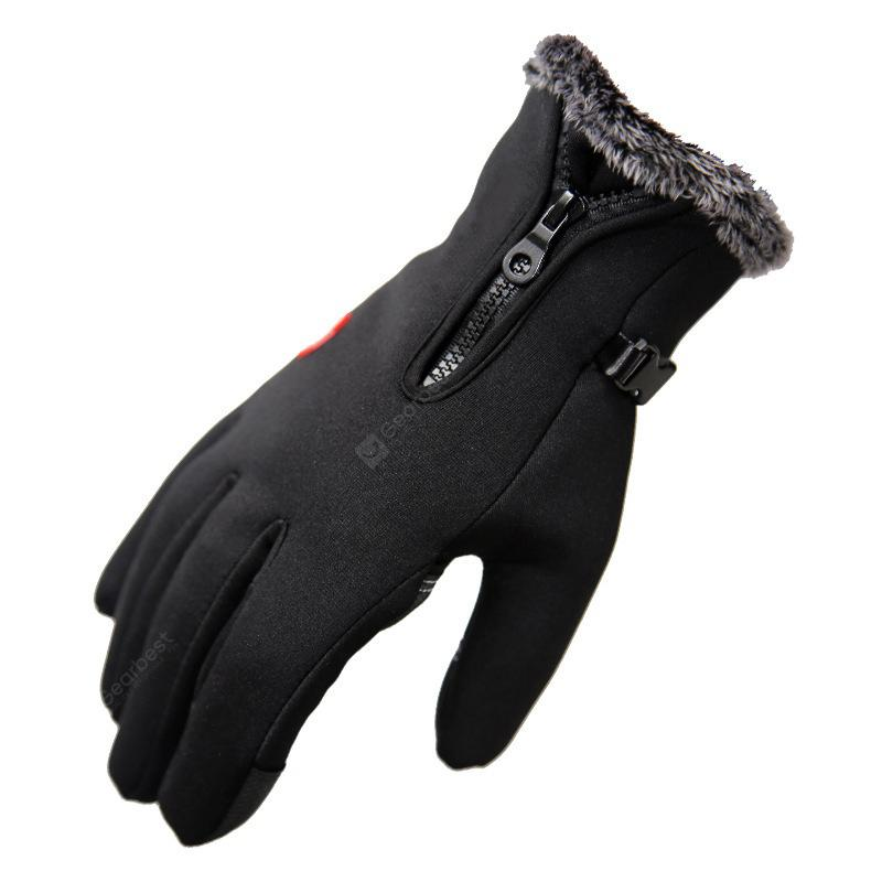 """""""Winter Gloves Riding Waterproof Plus Velvet Thick Warm Gloves Hiking Outdoor Sports Ski Gloves Cold Thickening"""" 3"""