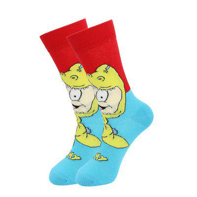 2020 Large Size Socks Men Cartoon Cute Tide