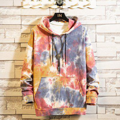 Autumn And Winter Dressing Japanese Hong Kong Wind Color Sweater Men Women Trend Loose Big Edition Couple Hooded Jacket