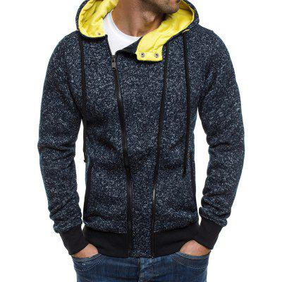 Mens Casual Fashion With Hooded Sweater Jacket