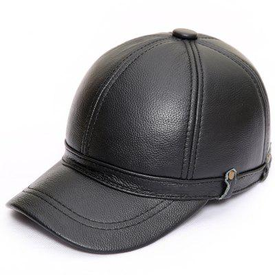 Leather Hat Autumn Winter Mens Duck Cap Outdoor Leisure Warm Ears Baseball