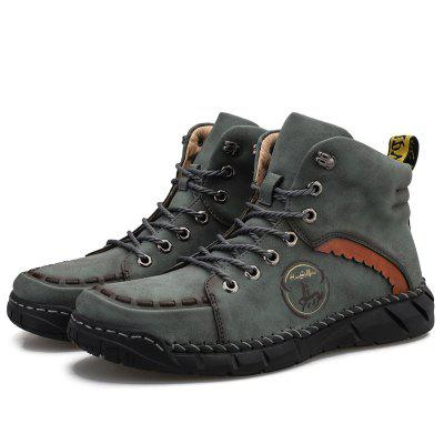 Фото - Men's Casual Boots Shoes Autumn and Winter Men's Shoes Casual Fashion Leather Shoes Tooling Warm Shoes hot new fashion design autumn and winter