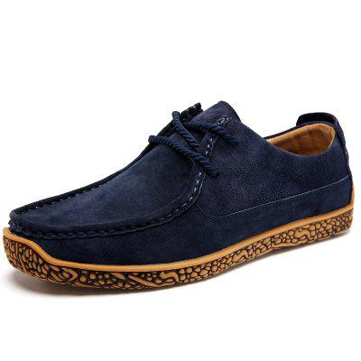 Mens Casual Leather Shoes Spring and Autumn Breathable Fashion