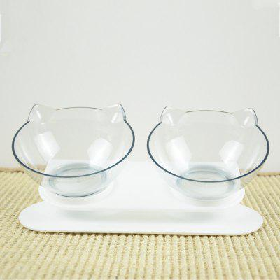 Cat Bowl Double Slip Pet Pots Dog Protect Spinal