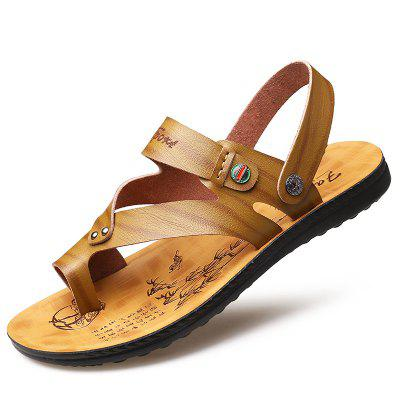 3318 Casual Microfiber Mens Sandals Round Toe Open Two Wears
