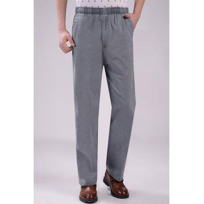 Summer Thin Section Paired Linen High Waist Loose Cotton And Trousers Mens Pants Plus Fertilizer Large Size