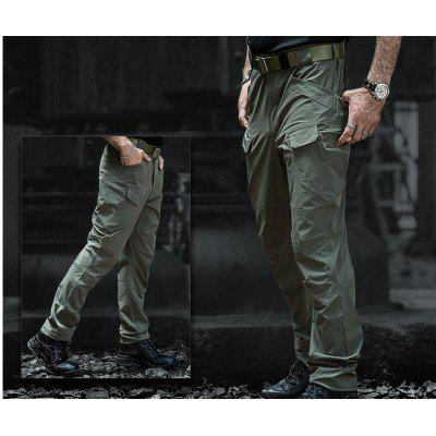 IX7 Stretch Fabric Mens Tactical Pants Multi-pocket Waterproof Tooling