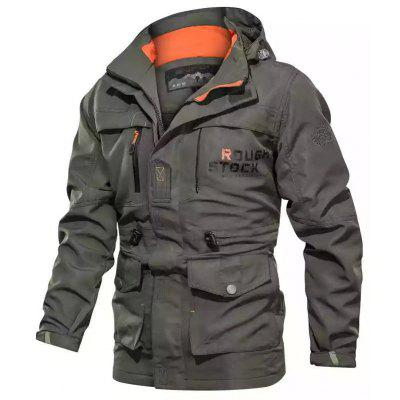 Mens Casual Jacket Outdoor Sports Tactical Mid-length Coat