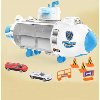 Ling Speed Childrens Toy Submarine Model Sound And Light Puzzle Story Multi-function Storage Alloy Car