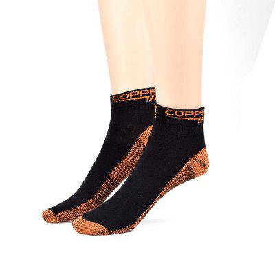 Copper Fiber Compression Socks Sports Ankle Men Women Casual Breathable