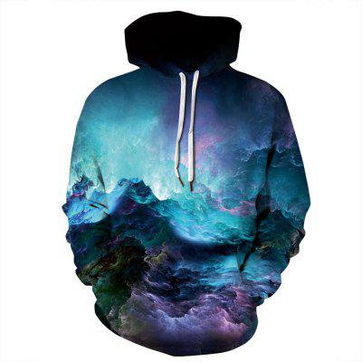 Starry Sky Printing Couple Casual Sweatshirt Loose Sports Baseball