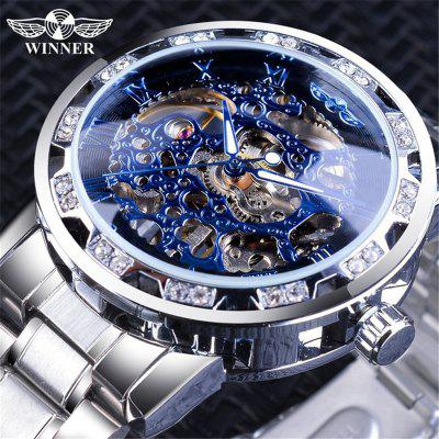 WINNER Wens Watch Hollow Out Mechanical Fashion Leisure Mens