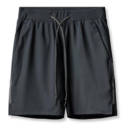 Mens Sports Shorts Running Summer Fitness Double Breathable Five Points Pants