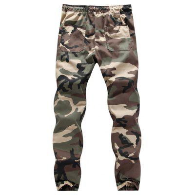 Mens Casual Camouflage Tooling Pants Large Size Trousers