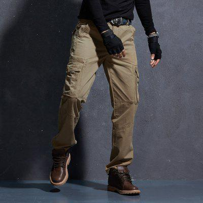 Mens Casual Trousers Loose Outdoor Pants Military Fashion Multi-pocket Tooling
