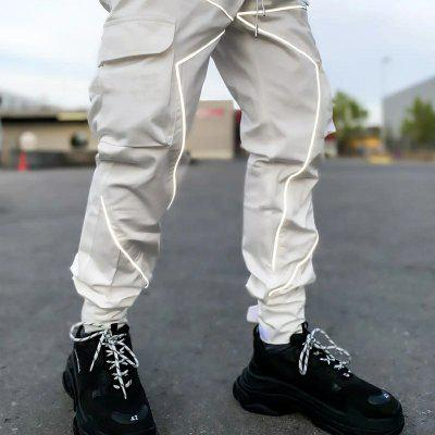 Mens Fitness Trousers Autumn and Winter Anti-glossy Feet Running Sports Casual Workshop Male Pants
