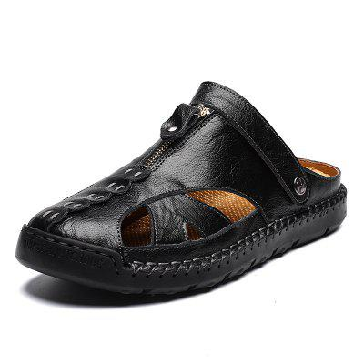 Sandals Men Summer Mens Beach Shoes Male Leather Youth Leisure Cool Drag Trend