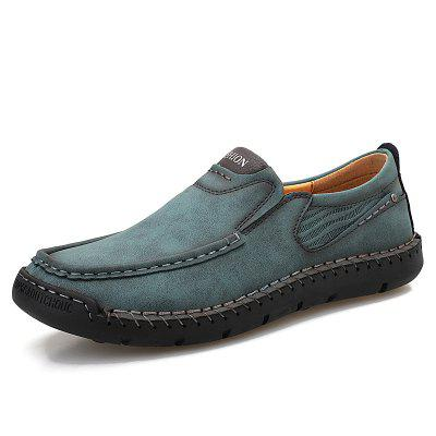 Mens Casual Fashion Printed Suede Shoes