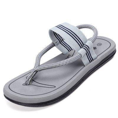 Human Flops Men And Women Personality Two Shoes Summer Couple Beach Casual Anti-slip Clip Feet