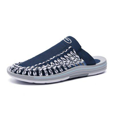Sandals Mens Trend Korean Style Hole Beach Shoes Casual Personality Slippers