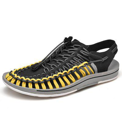 Couple Sandals Casual Sports Shoes Roman Woven Beach