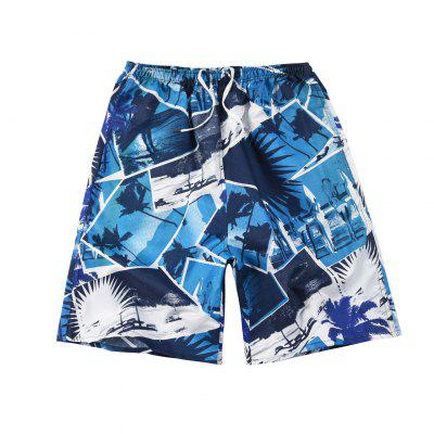 Mens Beach Shorts Quick Dry Loose Thin Sports Casual Trousers