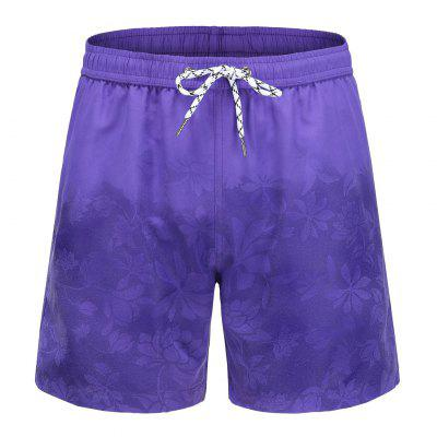 Plus Size Four-point Quick-drying Shorts Color-changing Magic Print Beach Pants Mens Swimming Trunks