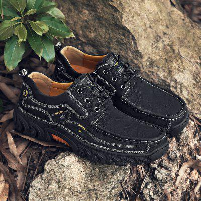 Mens British Solid Color Casual Shoes Low-top Outdoor Hiking