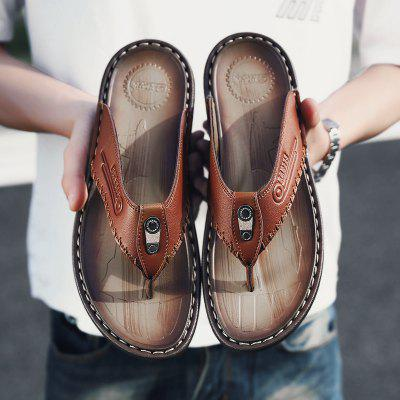 2021 Summer Sandals Mens Fashion Trend Cool Slippers Men Breathable Wild Beaches Shoes