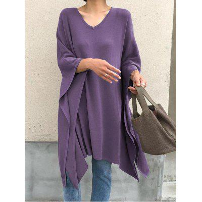Autumn Irregular Loose Blouse Bat Sleeve Shirt Female