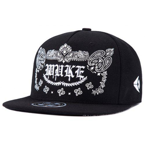 Stylish Gothic Letters and Paisley Embroidery Baseball Cap For Men ... 4445d3f90ba