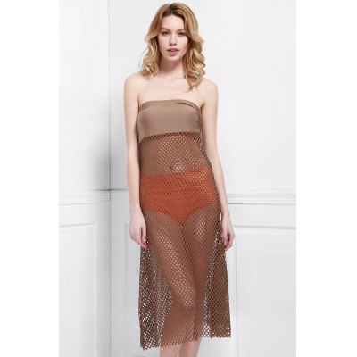 Hollow Ups Swim Skirt Out Cover Mesh OqHFq