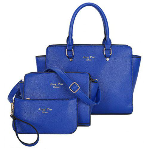 Graceful PU Leather and Letter Print Design Women s Tote Bag ... e5771a44afd05