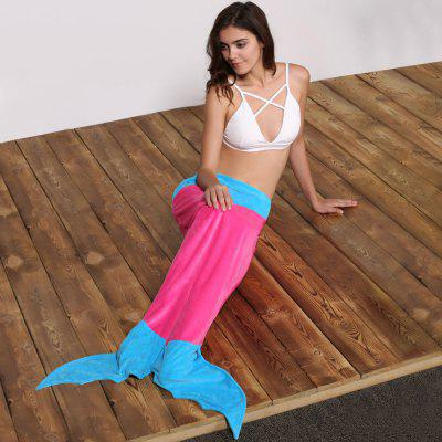 Cute Color Block Mermaid Design Blanket Sleeping Bag For Kids
