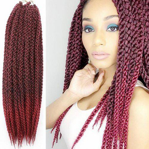 Vogue Twisted Rope Braid Red Ombre Color Long Synthetic Hair Extension For  Women -  22.23 Free Shipping 5bbb0d51ef