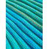 Moda Padrão Stripe Colorful Mermaid Blanket forma da cauda para adulto - AZUL LAGO