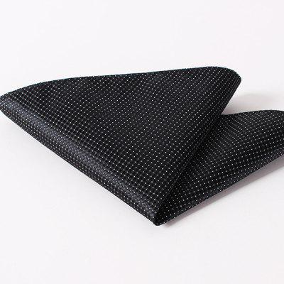 Stylish Small Checkered and Dots Pattern Wedding or Party Business Suit Pocket Square For Men