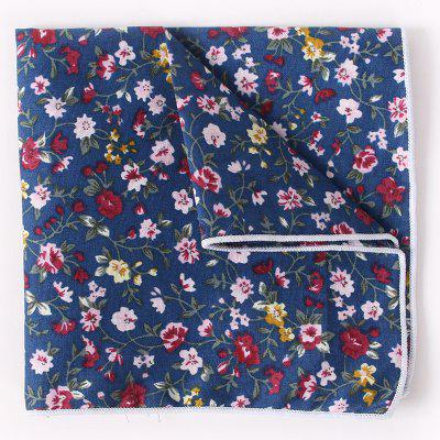 Stylish Tiny Floral Pattern Formal Banquet Party Business Suit Pocket Square For Men