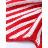 Stars and Stripes Pattern Knitting Mermaid Shape Blanket - COLORMIX