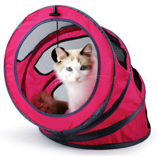 Breathable Folding Spiral Pet Toy Cat Tunnel or Bed