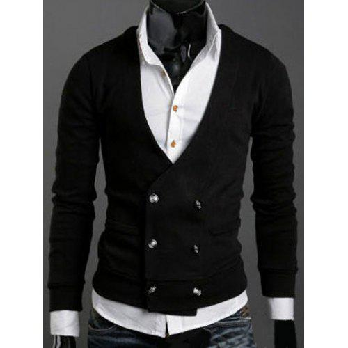 dd4f925d325 Long Sleeves Double-Breasted Cardigan
